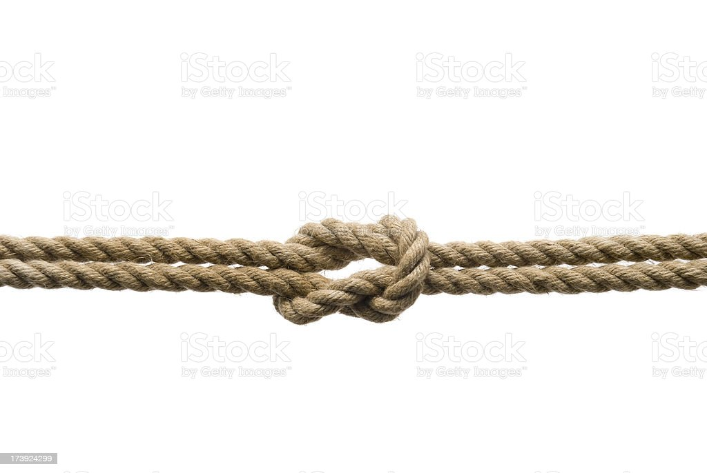 Tied ropes isolated on white royalty-free stock photo