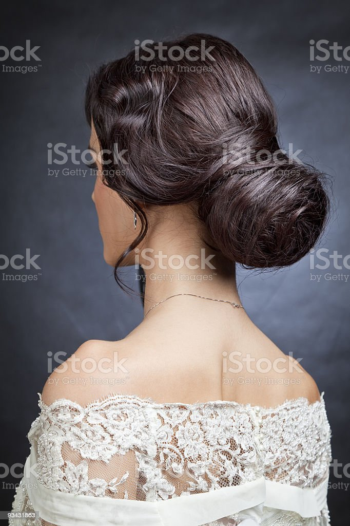 Tied up in a bun royalty-free stock photo