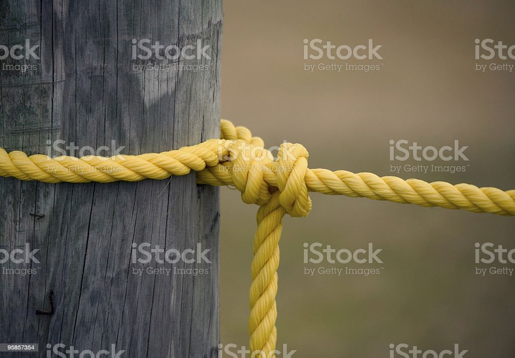 Tied Up (color) royalty-free stock photo
