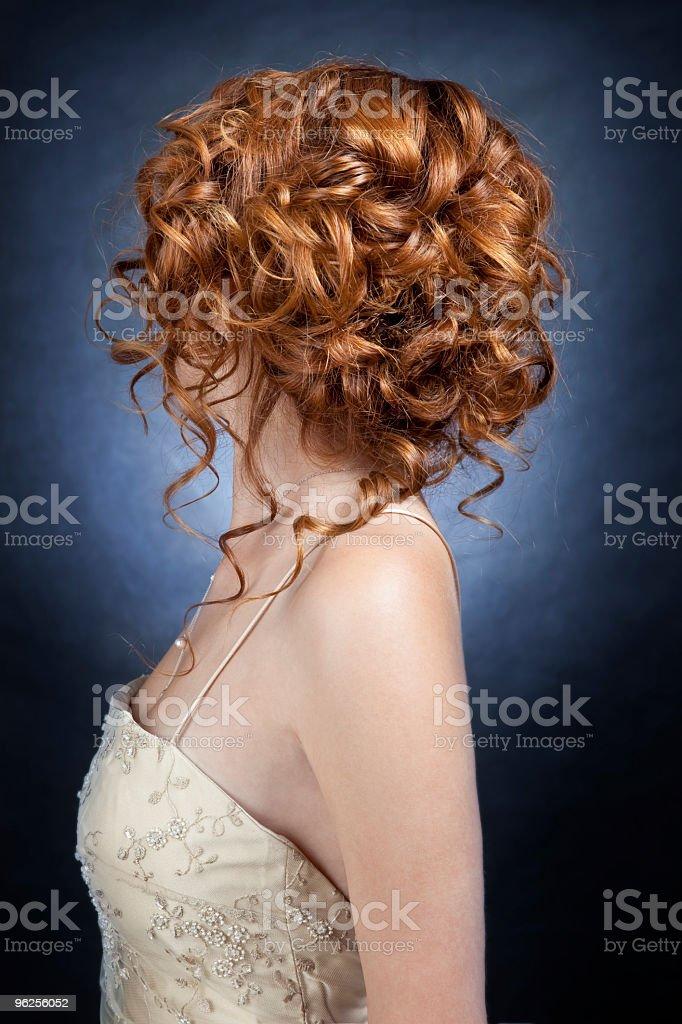 Tied up redhead royalty-free stock photo