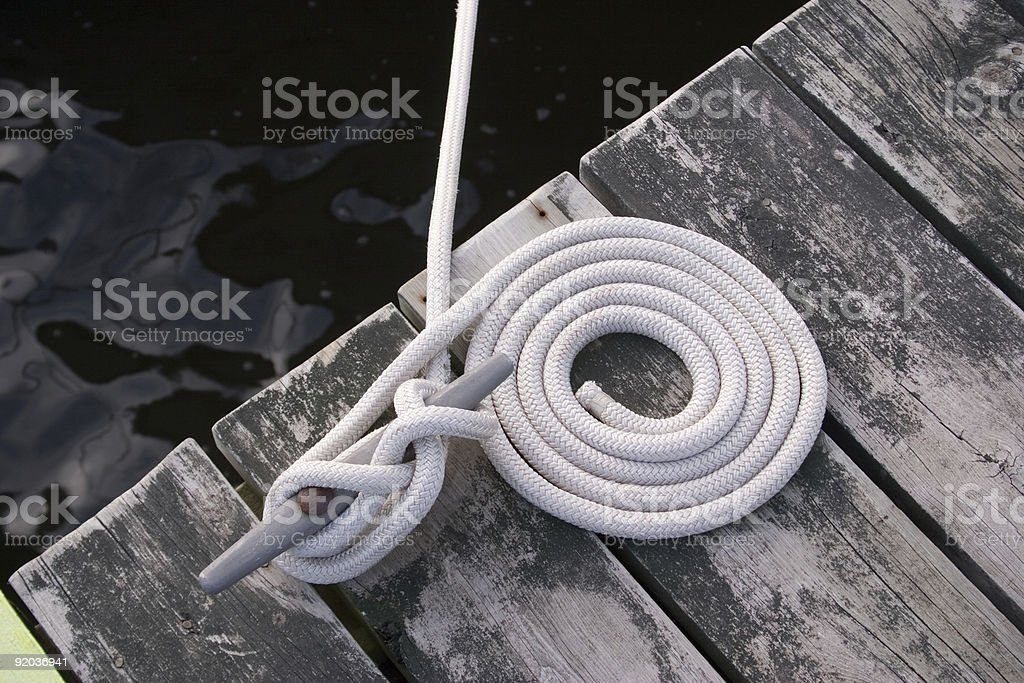 Tied up to the dock royalty-free stock photo