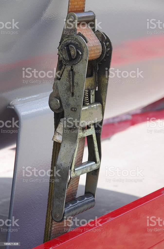 tie-down strap stock photo