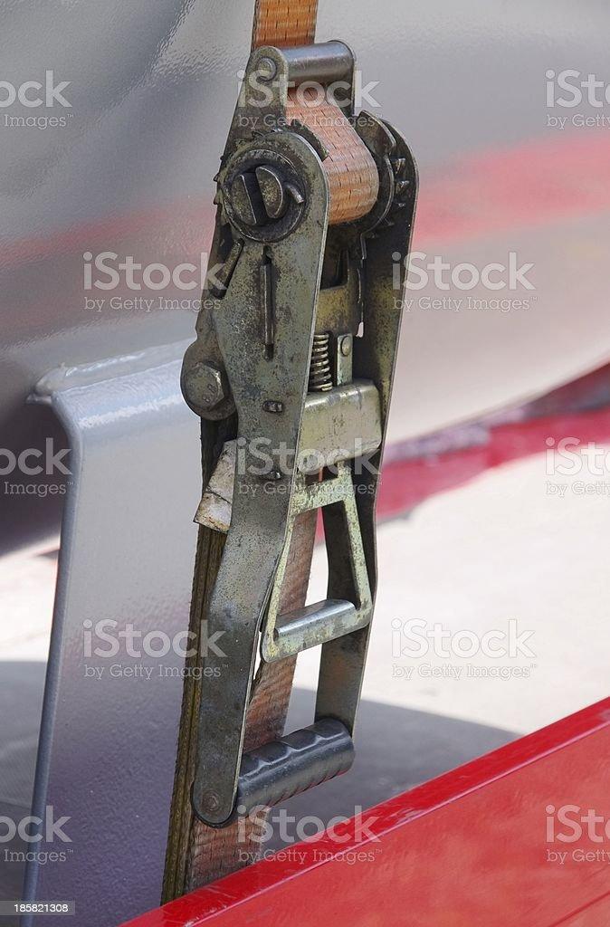 tie-down strap stock photo