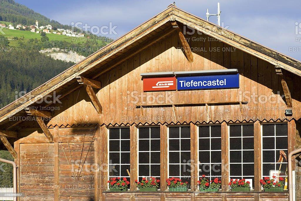 Tiefencastel, Switzerland, Rhaetian Railway stock photo