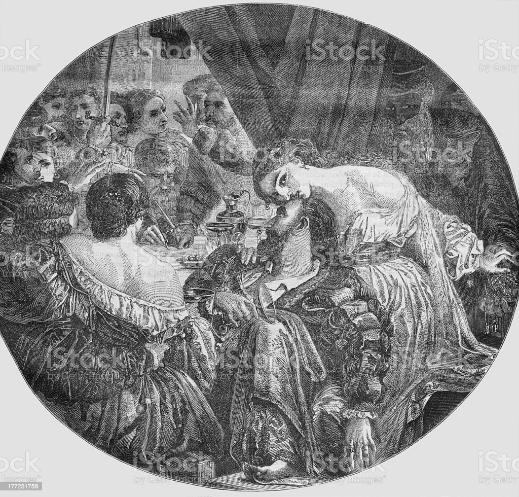 Tiepolo's conspiracy in Venice royalty-free stock photo