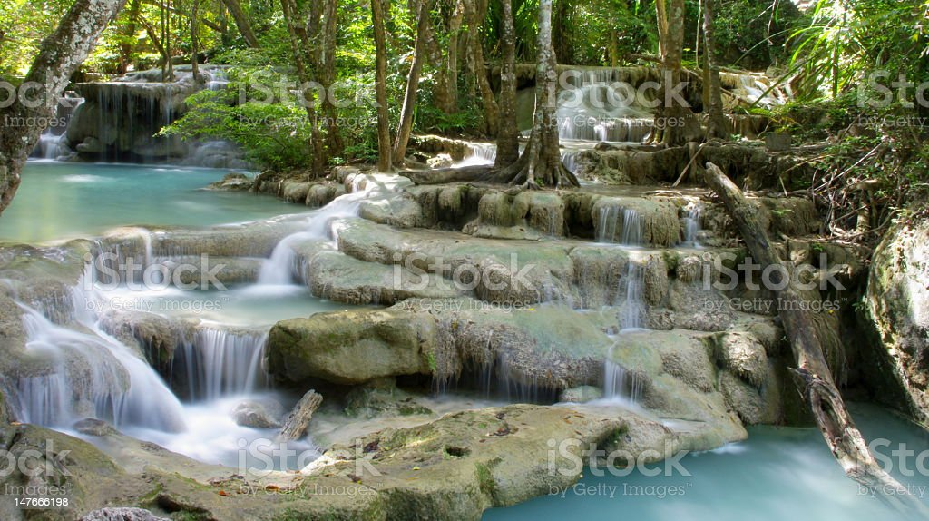 tiered waterfall royalty-free stock photo