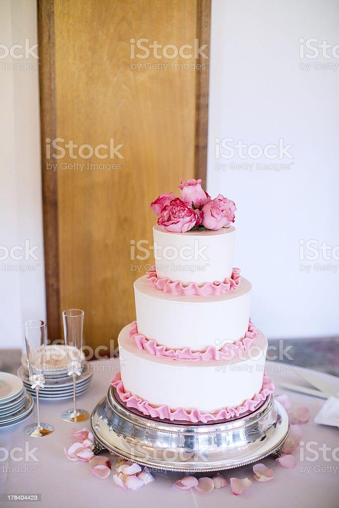 Tiered Wedding Cake royalty-free stock photo