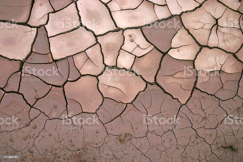 Tierra cuarteada stock photo