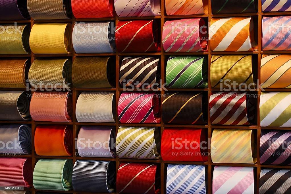 Ties in a Rack stock photo