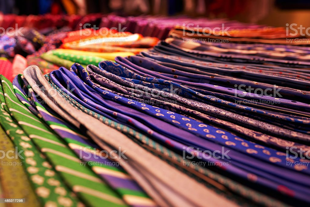 ties in different colors stock photo