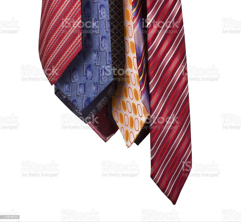Ties on the white background royalty-free stock photo