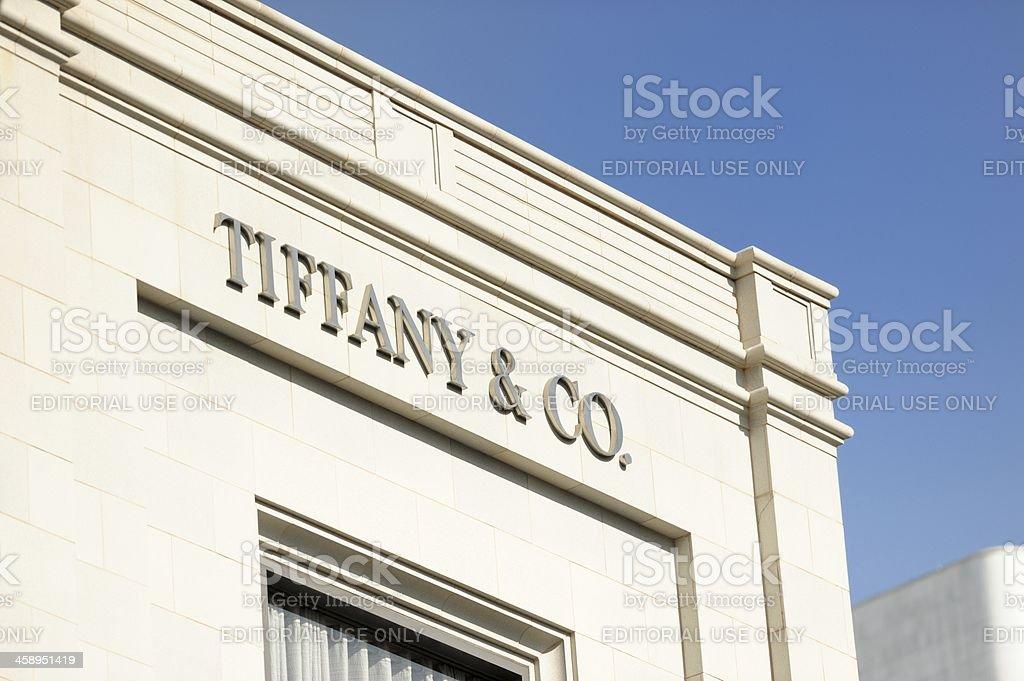 Tiffany and company sign stock photo