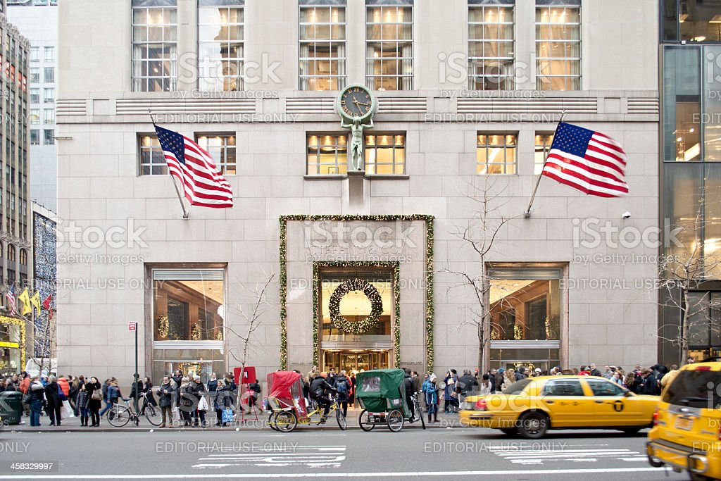 Tiffany & Co. Fifth Avenue Manhattan, Christmas Time royalty-free stock photo