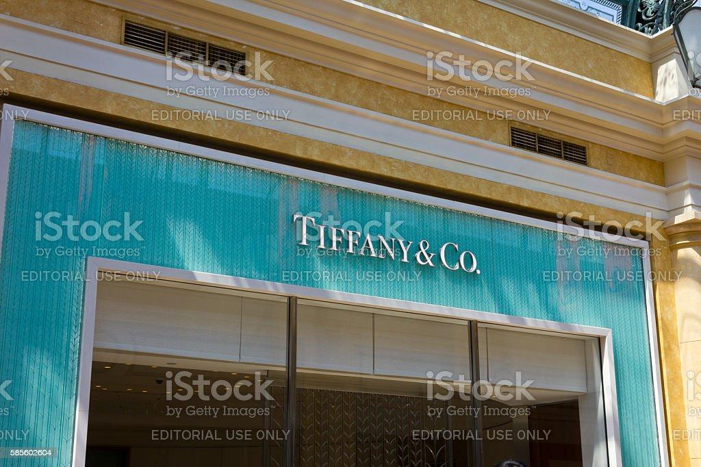 Tiffany & Co. Retail Mall Location I stock photo