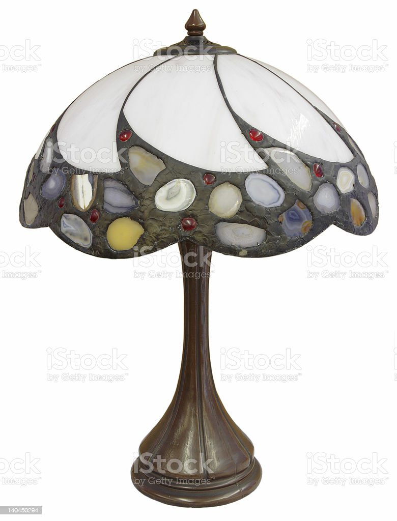 Tiffany Glass Table Lamp stock photo