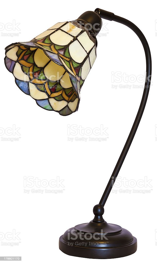 Tiffany Stained Glass Table Lamp stock photo