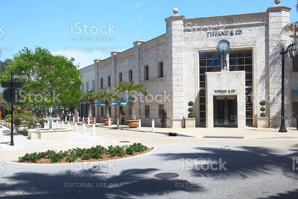 Tiffany store in Palm Beach stock photo