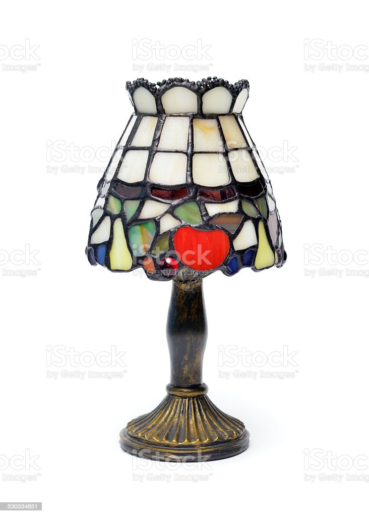 Tiffany Style Lamp stock photo