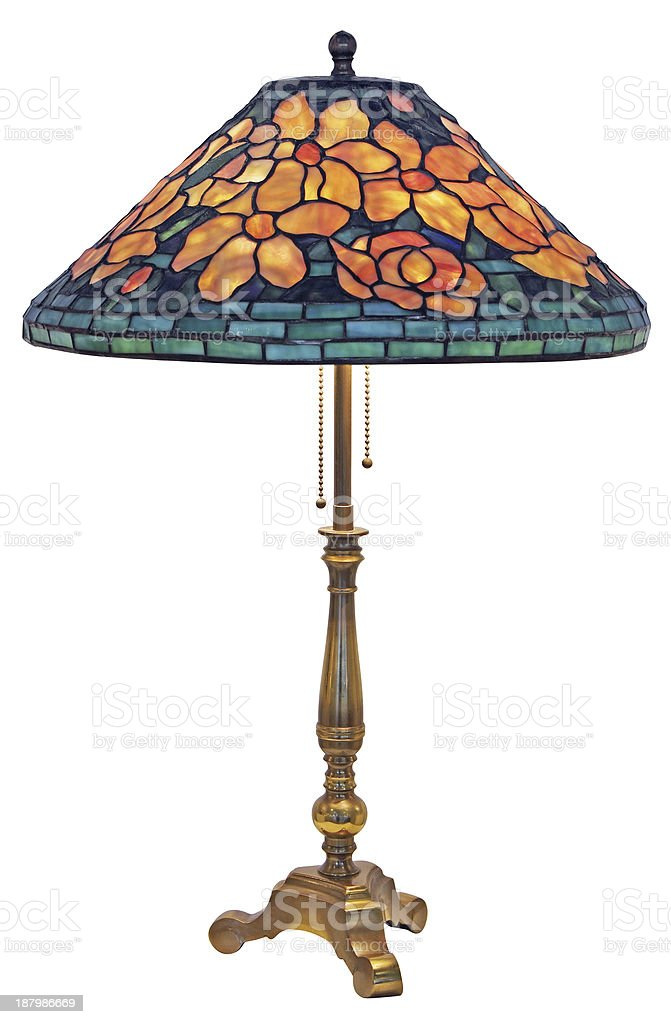Tiffany Table Lamp stock photo