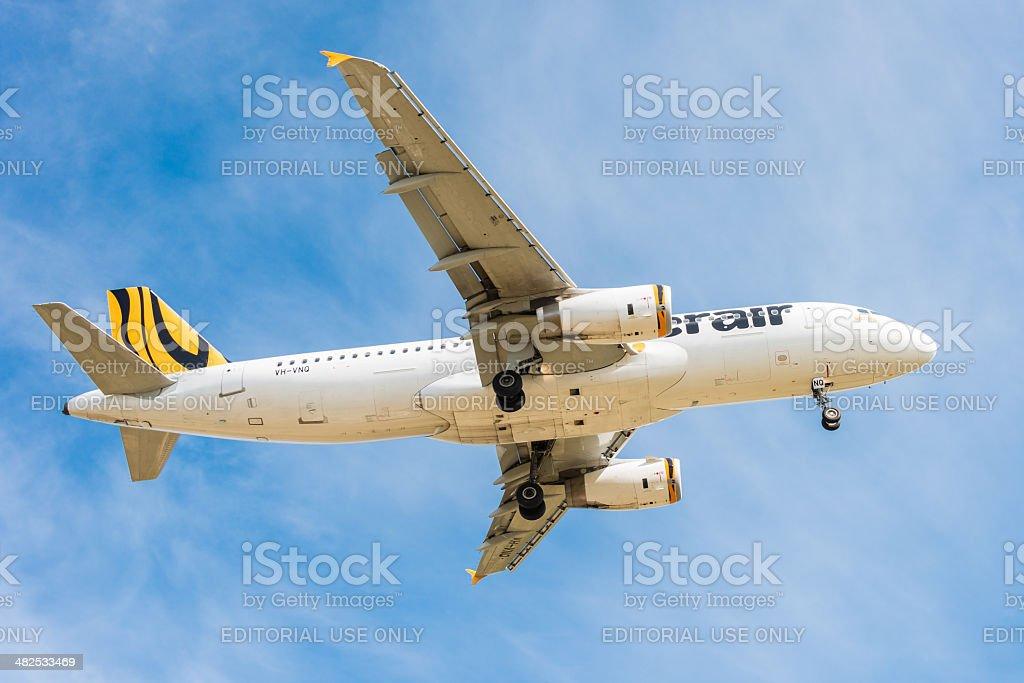 Tiger Airways Austrália passageiro avião foto royalty-free