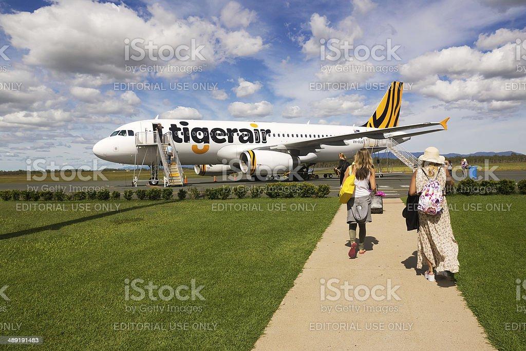 Tiger Airways stock photo