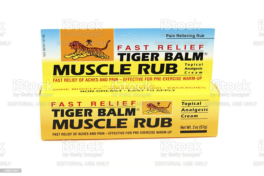 Tiger Balm sports pain relief ointment royalty-free stock photo