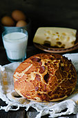 Tiger bread in a rustic style