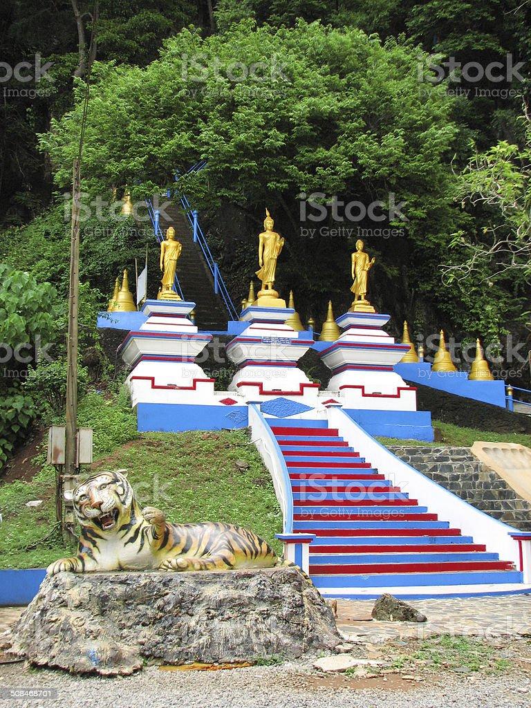 Tiger Cave Temple (Wat Tham Sua) stock photo
