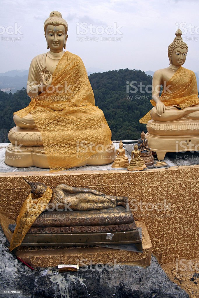 tiger cave temple royalty-free stock photo