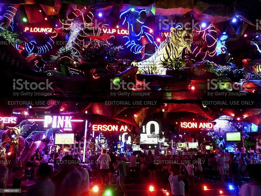Tiger Entertainment Complex, Patong beach stock photo