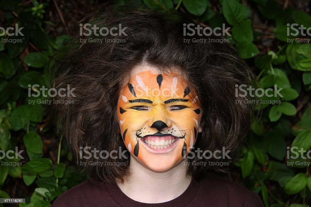 Tiger Face painting royalty-free stock photo
