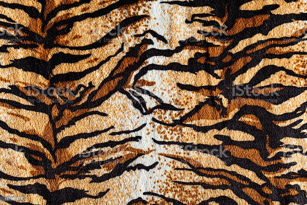 Tiger fur fabric stock photo
