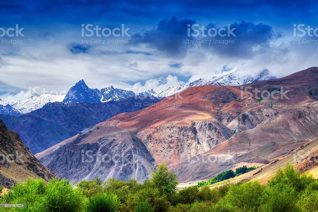 Tiger hill, tiger point, kargil, ladakh, India stock photo