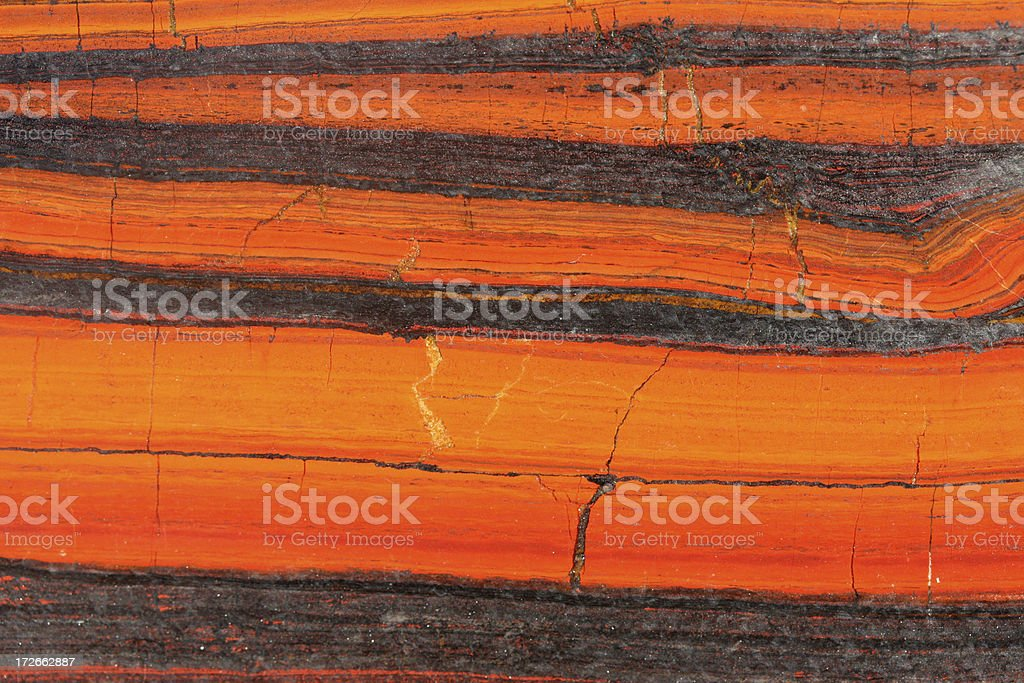 tiger iron Haematite banded rock stock photo