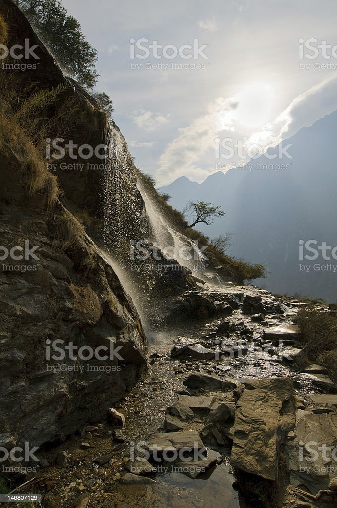 tiger leaping gorge, yunnan, china stock photo
