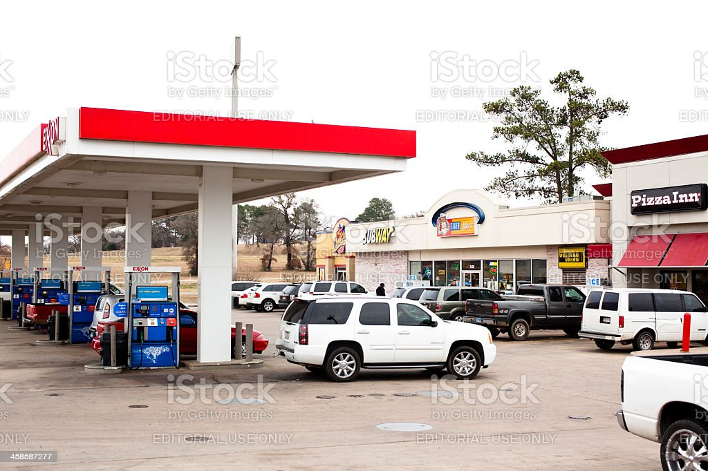 Tiger Mart convenience store with Exxon gasoline stock photo