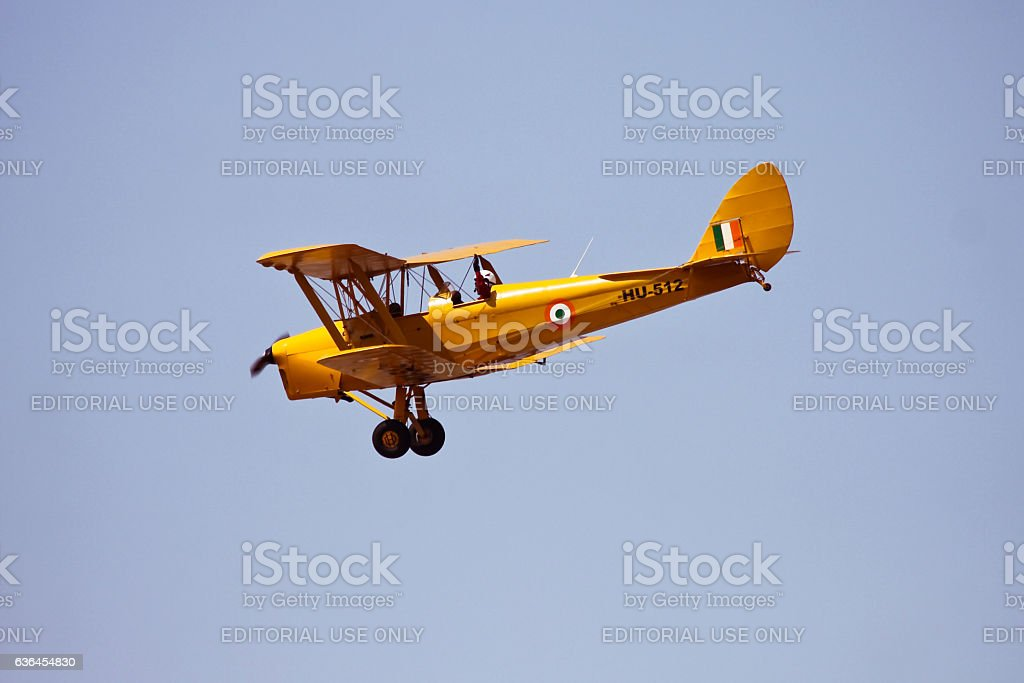 Tiger Moth of Indian Air Force stock photo