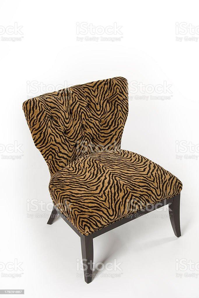 Tiger Print Chair royalty-free stock photo