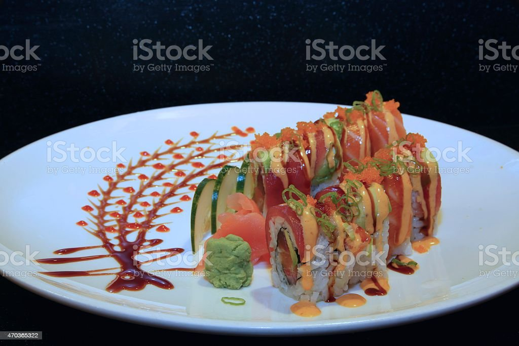 Tiger Roll Sushi stock photo