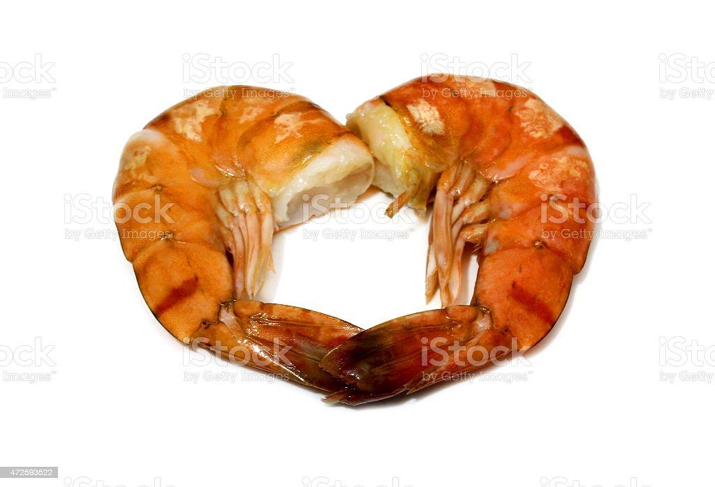 Crevettes tigrées isolé photo libre de droits
