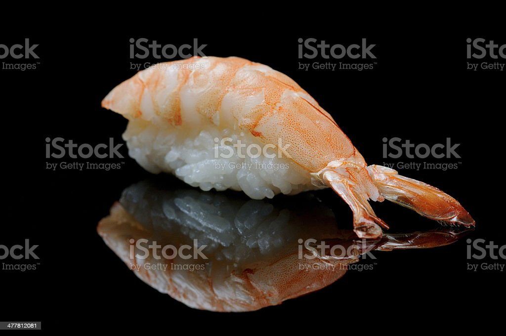 Tiger shrimp sushi royalty-free stock photo