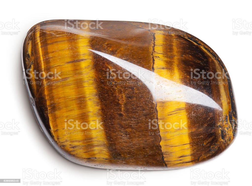 Tiger's eye stone stock photo