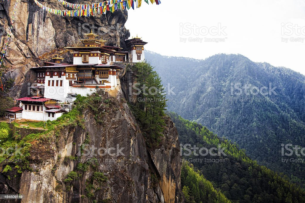 Tiger's Nest at Paro Bhutan stock photo