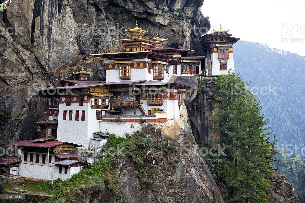 Tiger's Nest at Paro Bhutan stock photo