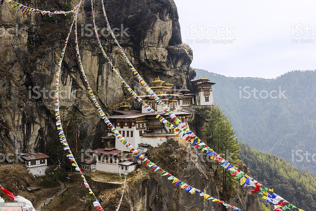 tiger's nest, Bhutan stock photo