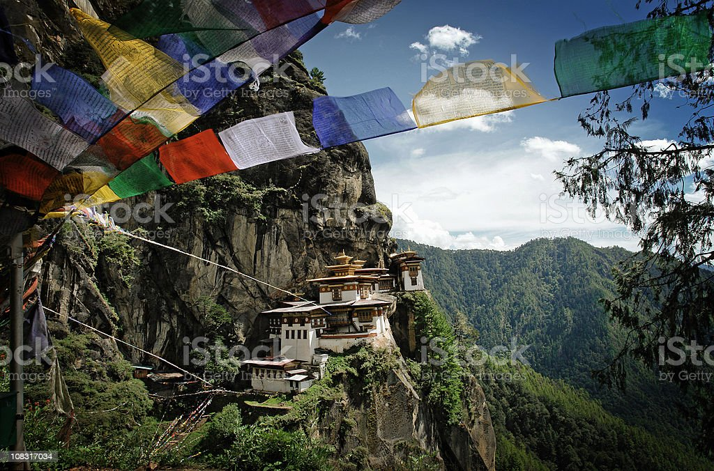 Tiger's Nest (Taktshang) Monastery in Bhutan stock photo