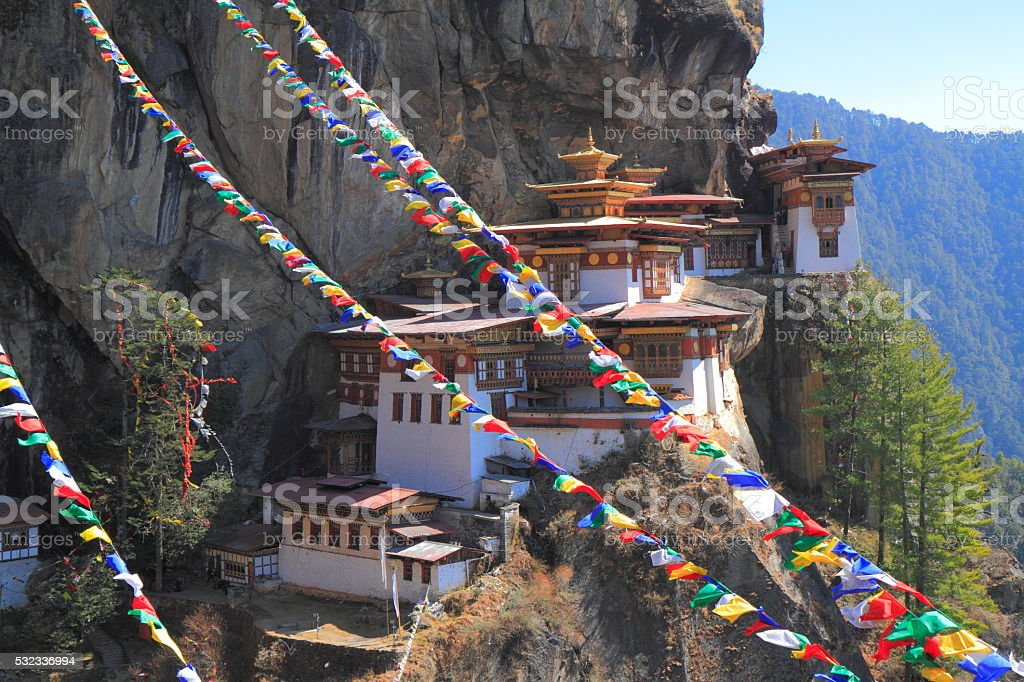 Tiger's Nest, Taktsang Monastery, Bhutan stock photo