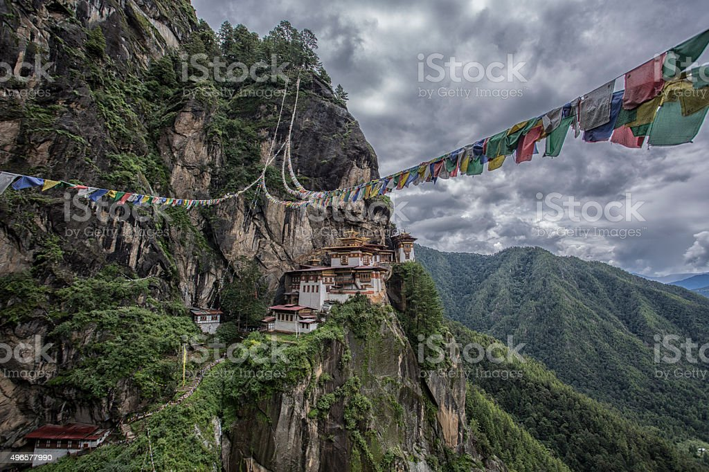 Tiger's Nest Temple, Bhutan stock photo