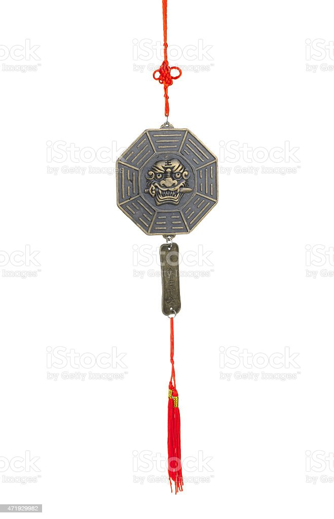 tiger's sword lessons wind chime stock photo