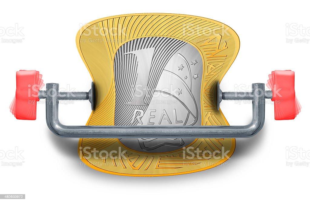 Tight Brazilian Budget stock photo